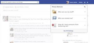 Facebook - nowe menu prywatności
