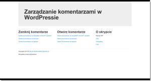 Włącz wyłącz komentarze w Twojej instalacji WordPressa